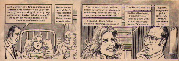 Vintage Highlights From Mad Magazines Original Spoof Of The Bionic Woman